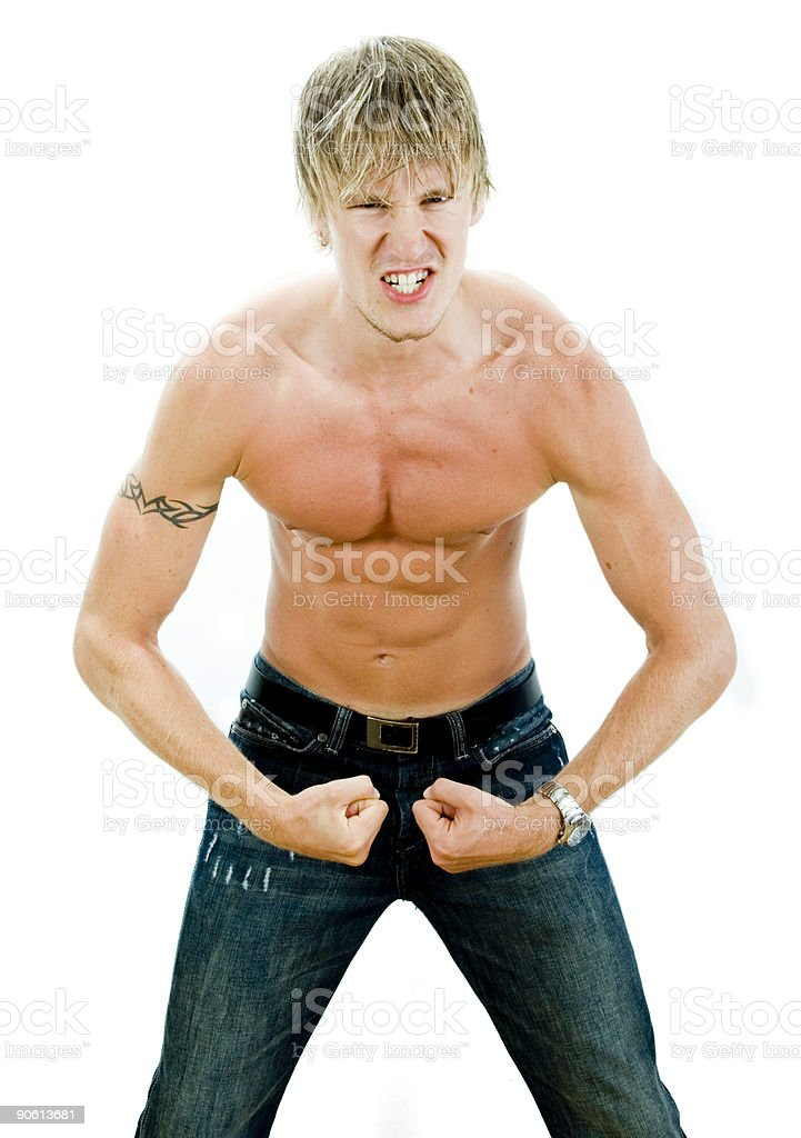 Flex your muscle royalty-free stock photo