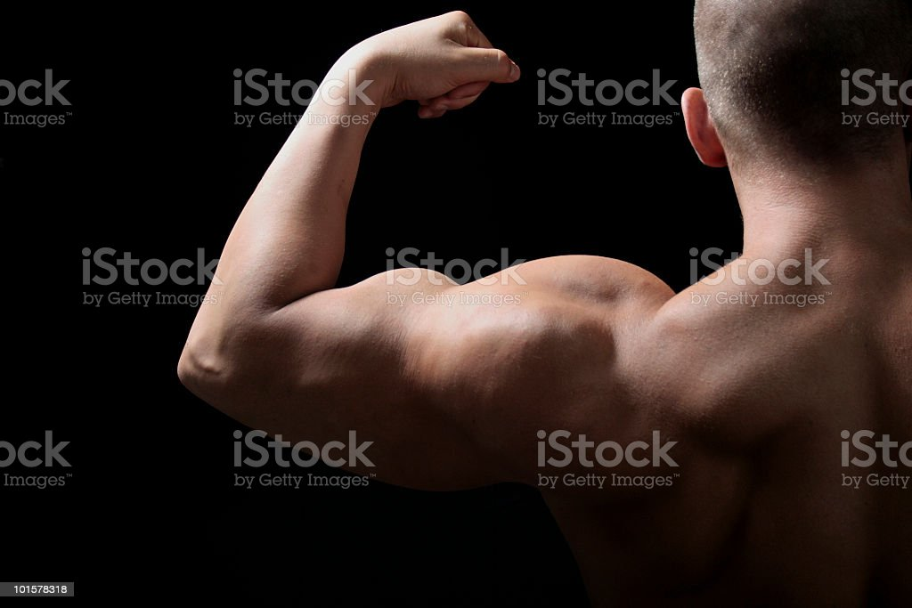 Flex Your Muscles stock photo