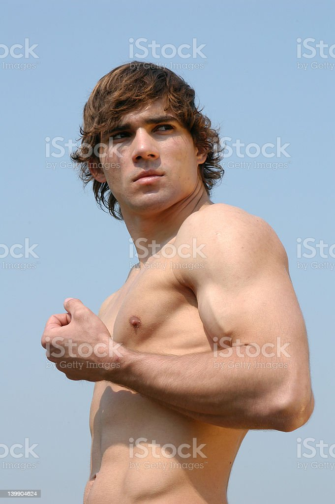 Flexed Biceps royalty-free stock photo