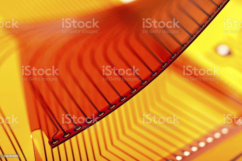 Flexible circuit board stock photo