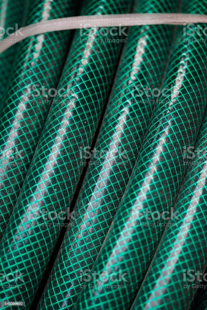 Flexible corrugated hoses stock photo
