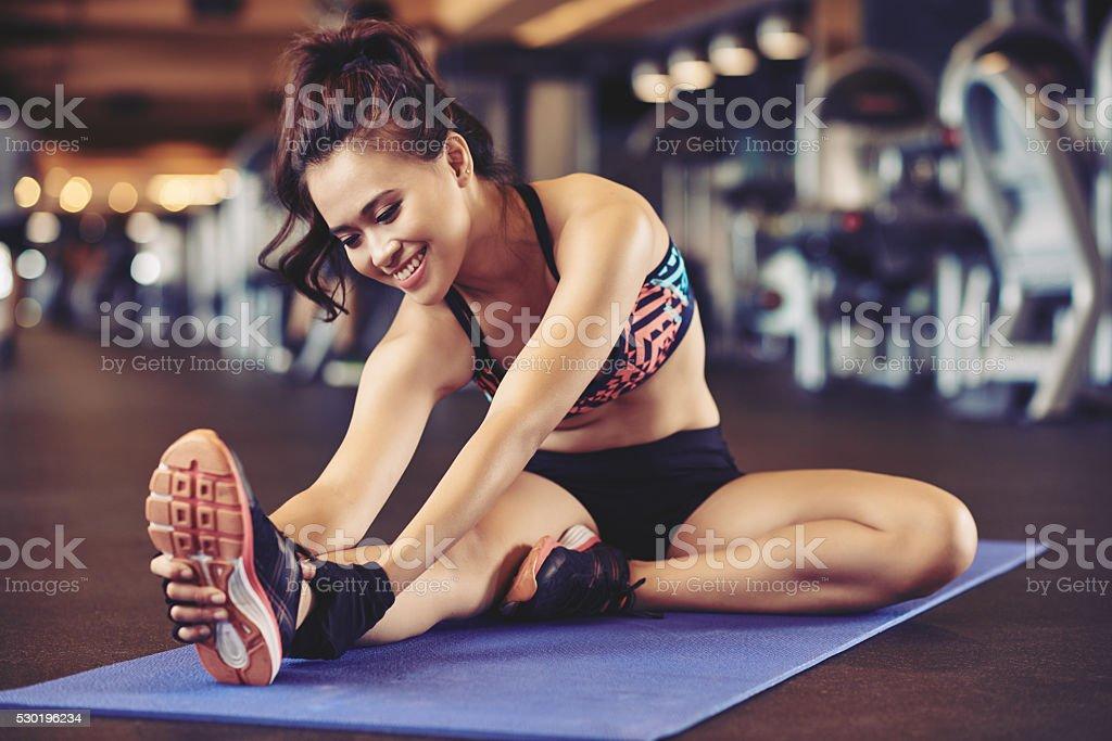 Flexible girl stock photo