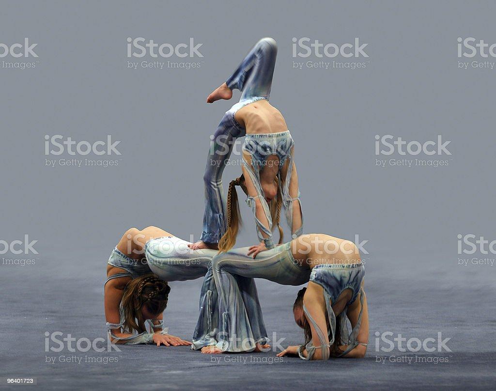 Flexible girls royalty-free stock photo