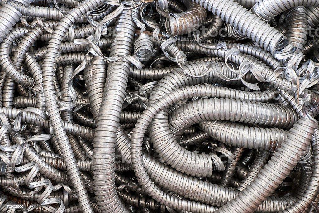 flexible metal hose stock photo