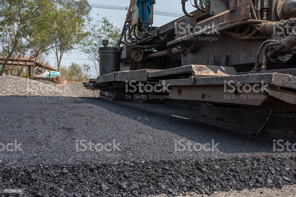 flexible pavements consists of asphalt concrete stock photo