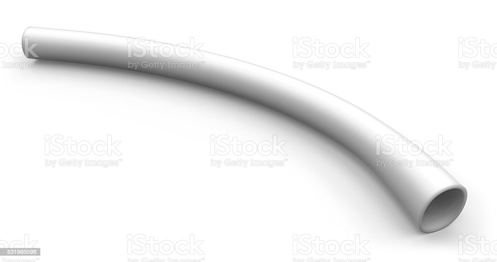 Flexible plastic tubing stock photo