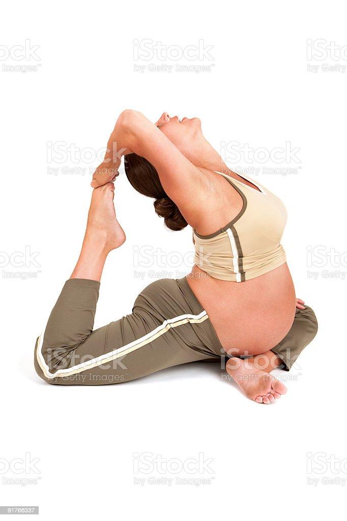 Flexible Pregnant Woman stock photo