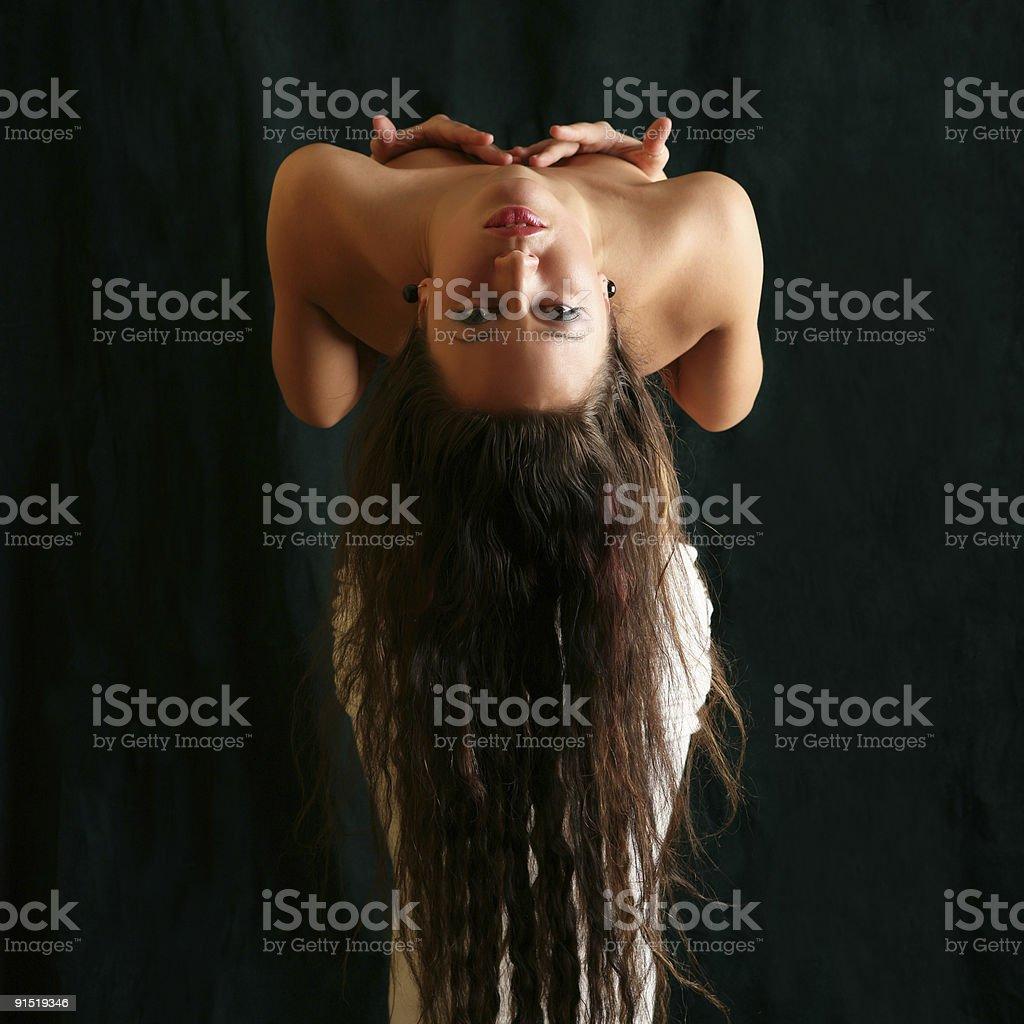 Flexible  pretty woman. royalty-free stock photo