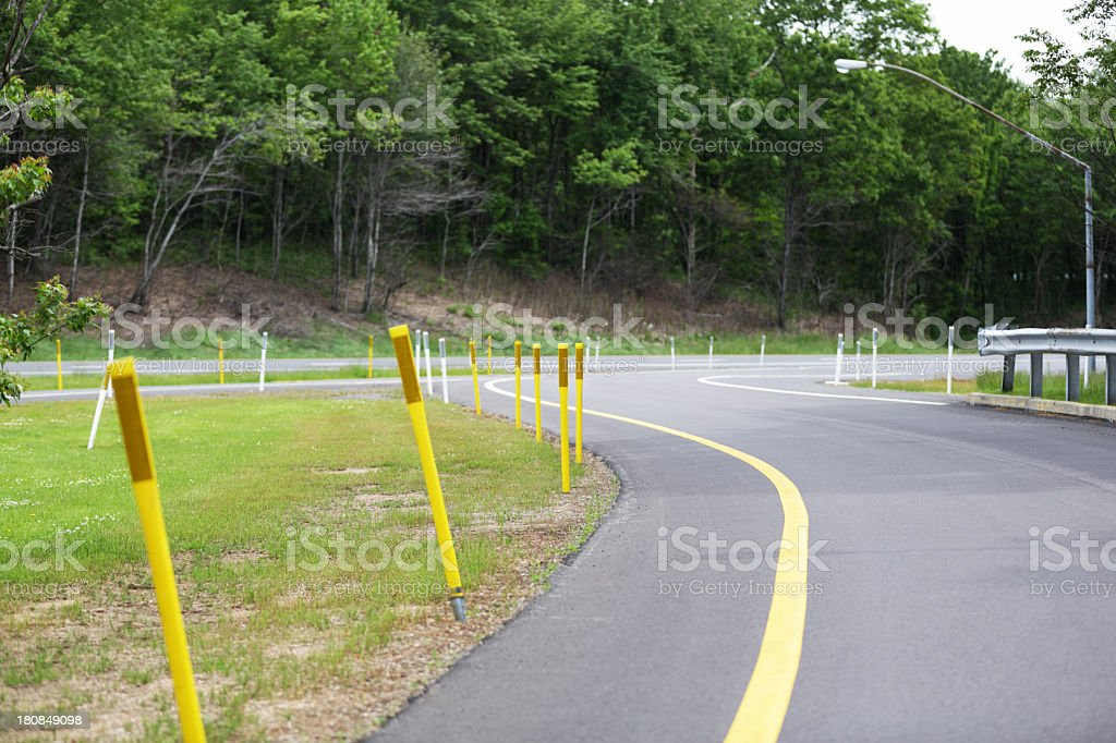 Flexible Road Safety Reflectors royalty-free stock photo