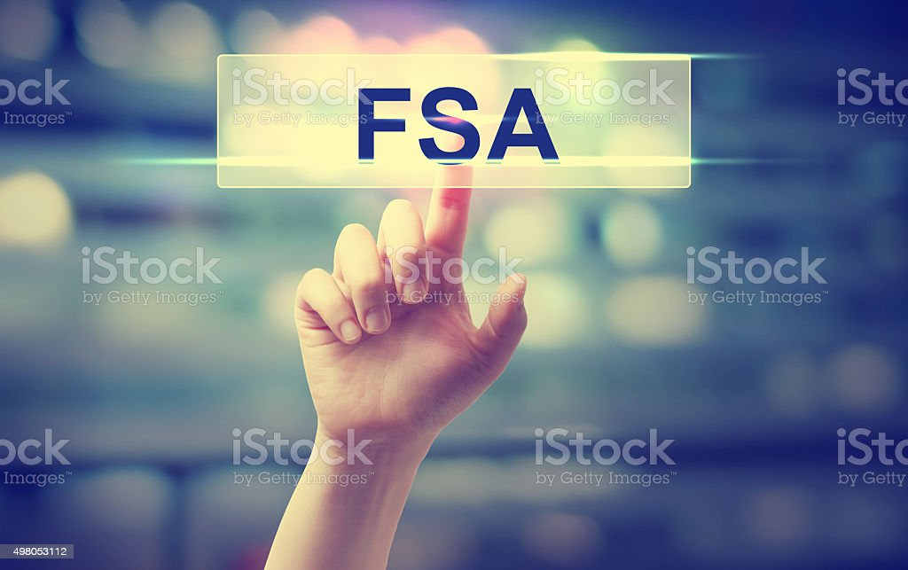 FSA - Flexible Spending Arrangement or Federal Student Aid concept stock photo