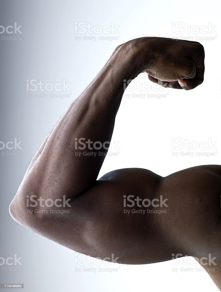 Flexing arm royalty-free stock photo