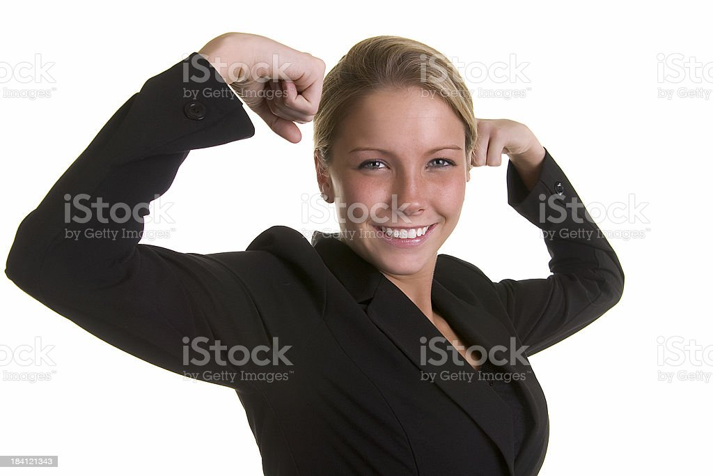 Flexing business woman royalty-free stock photo