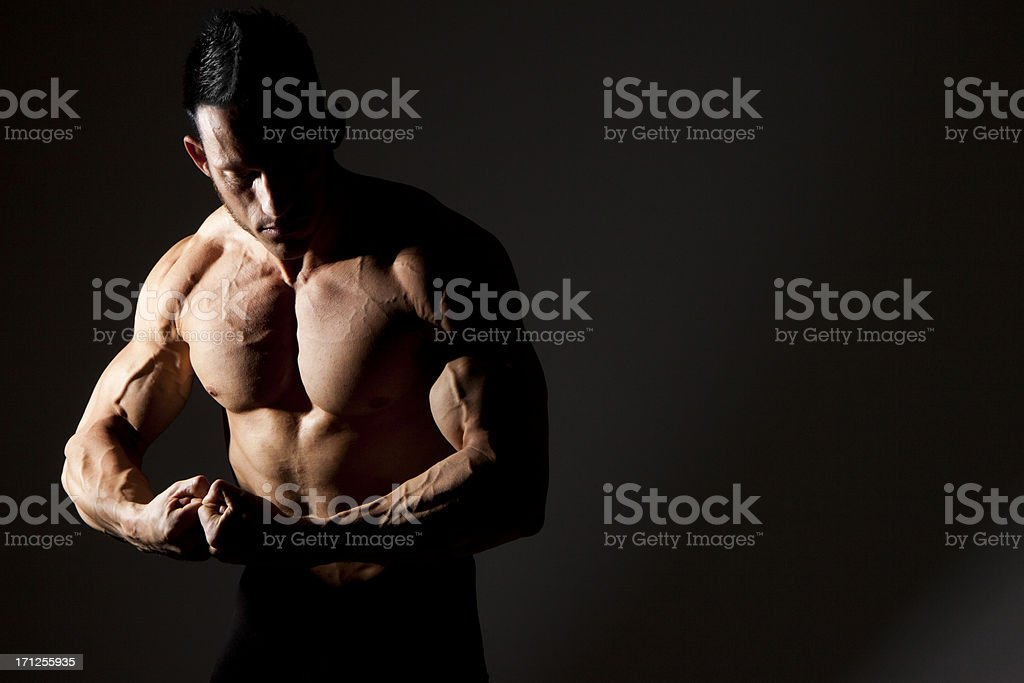 Flexing Muscle royalty-free stock photo