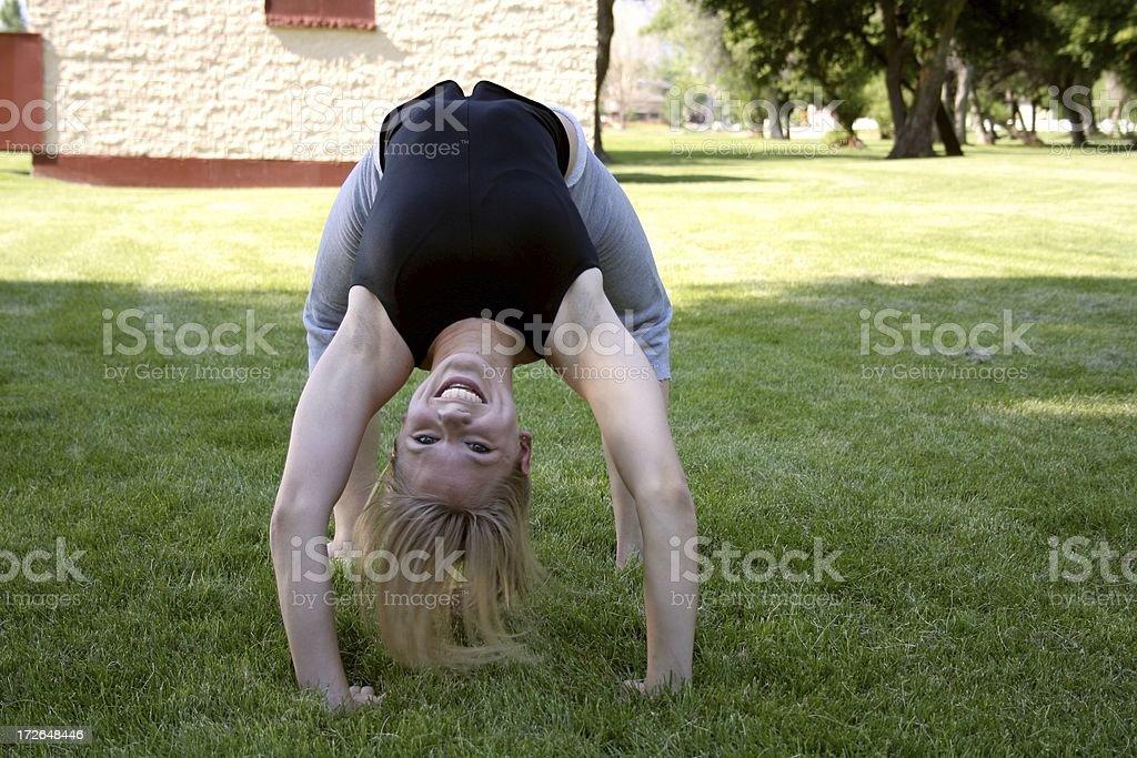 Flexi-woman stock photo