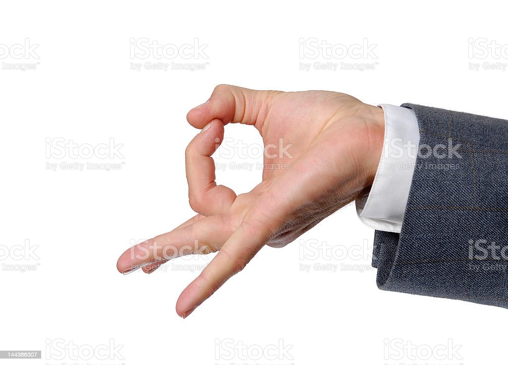 Flick it hand sign royalty-free stock photo