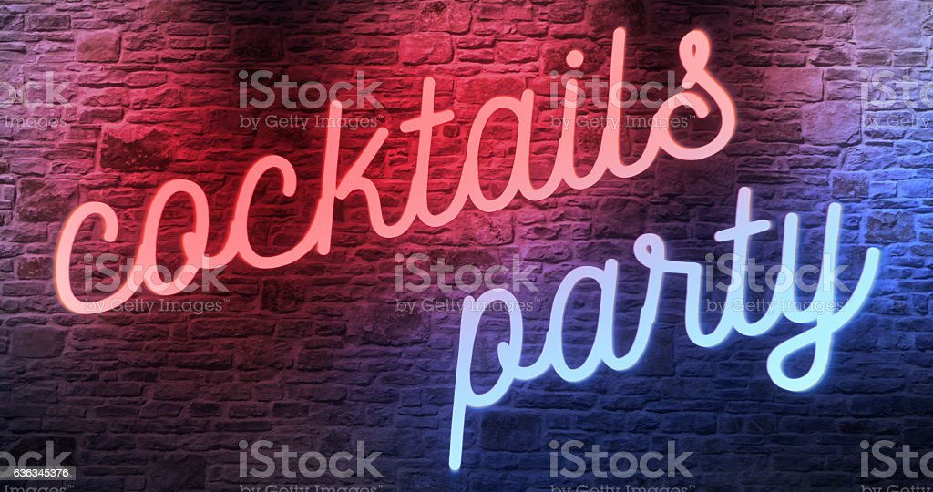 flickering blinking red and blue neon sign stock photo
