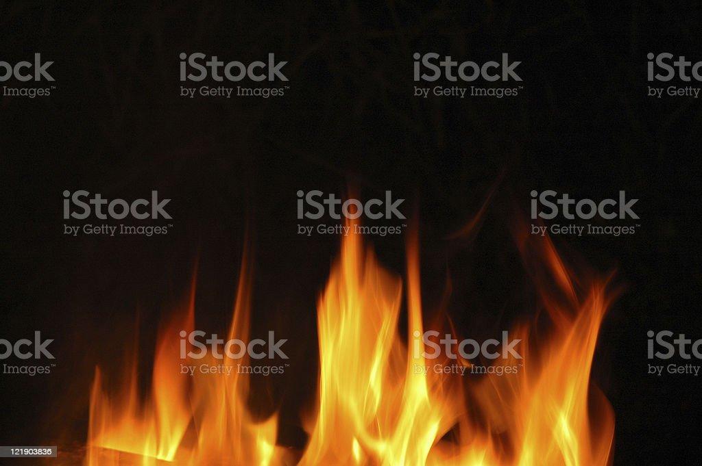 Flickering Flames stock photo