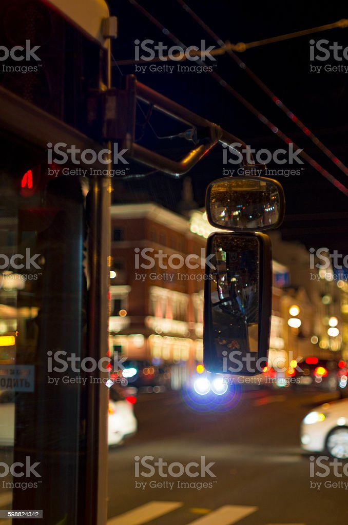 Flickering mirrors and fires stock photo
