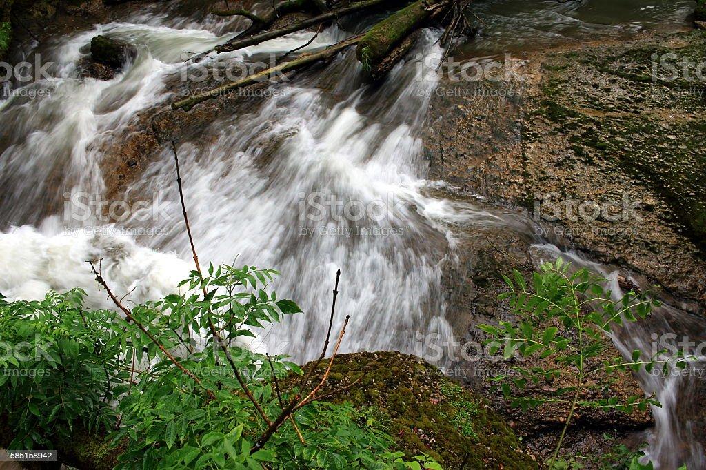 fließendes Wasser stock photo