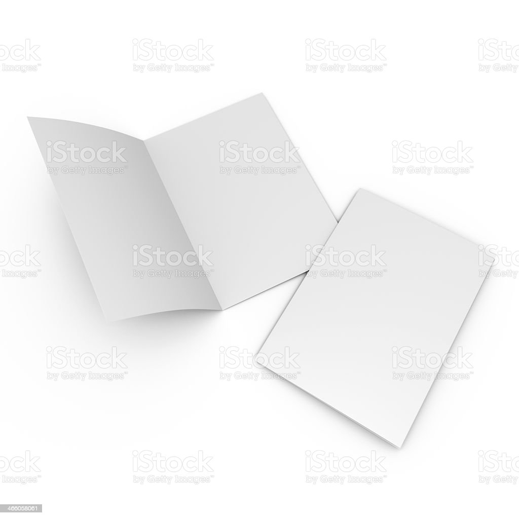 flier or leaflet in a4 size stock photo