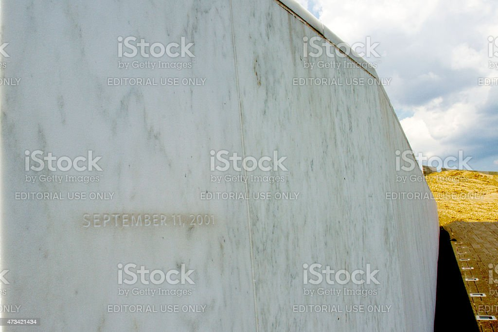 Flight 93 Memorial, September 11, 2001 stock photo