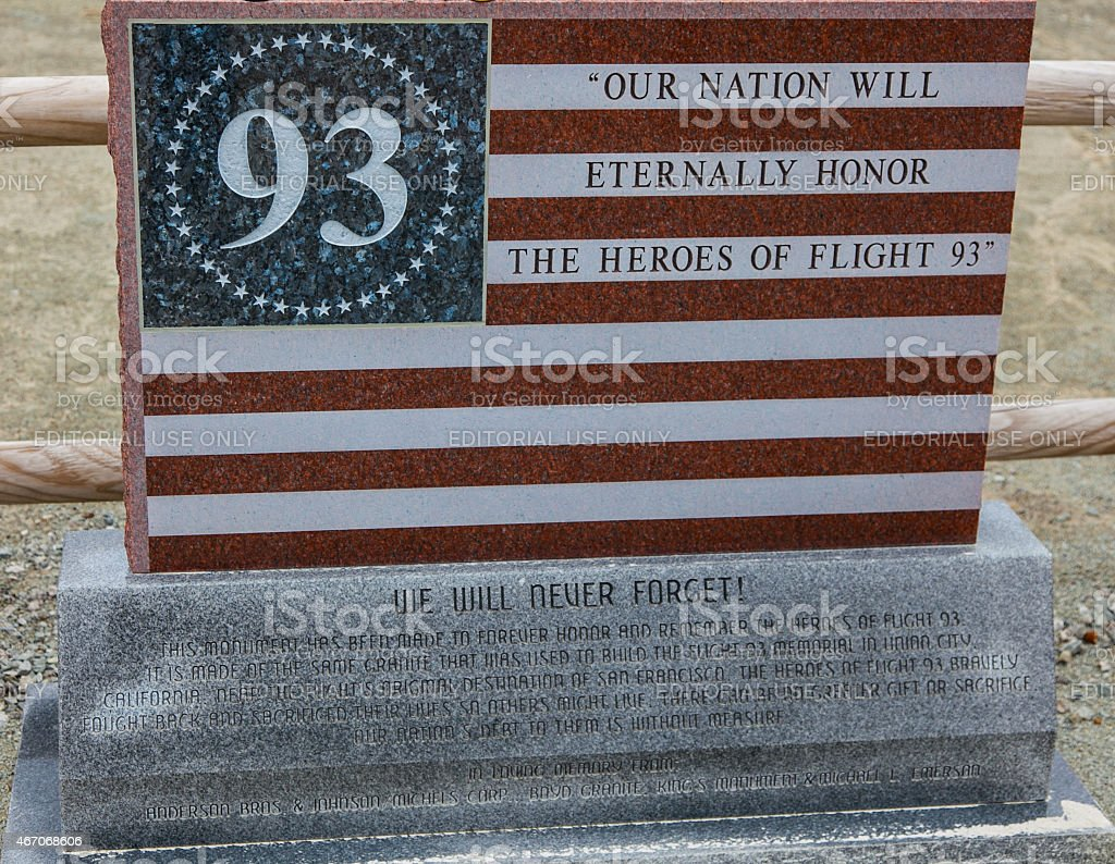 Flight 93 National Memorial stock photo