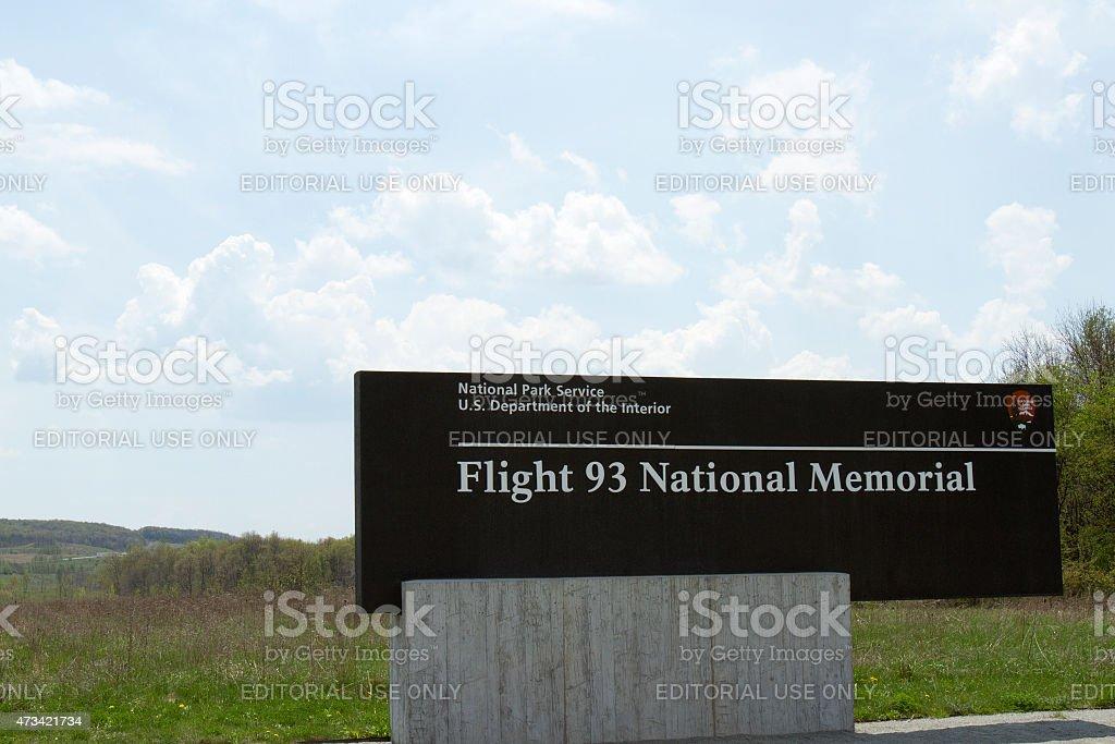 Flight 93 National Memorial sign stock photo