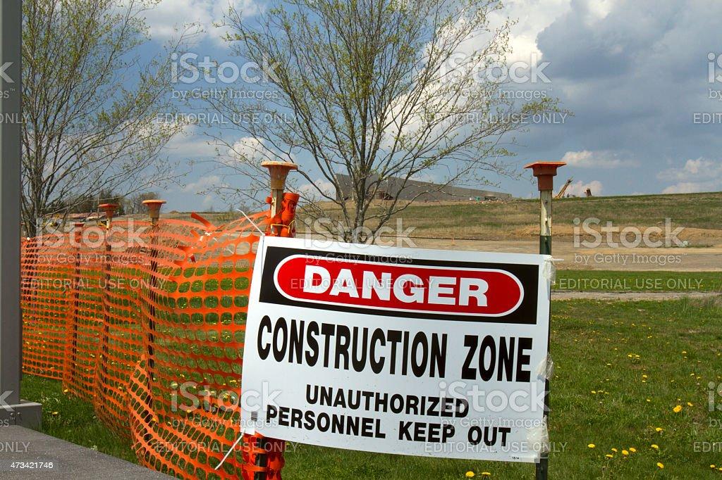 Flight 93 Visitors Center under construction stock photo