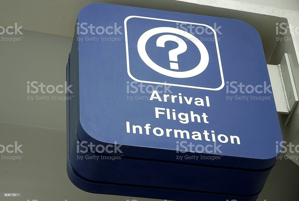 Flight arrival information royalty-free stock photo
