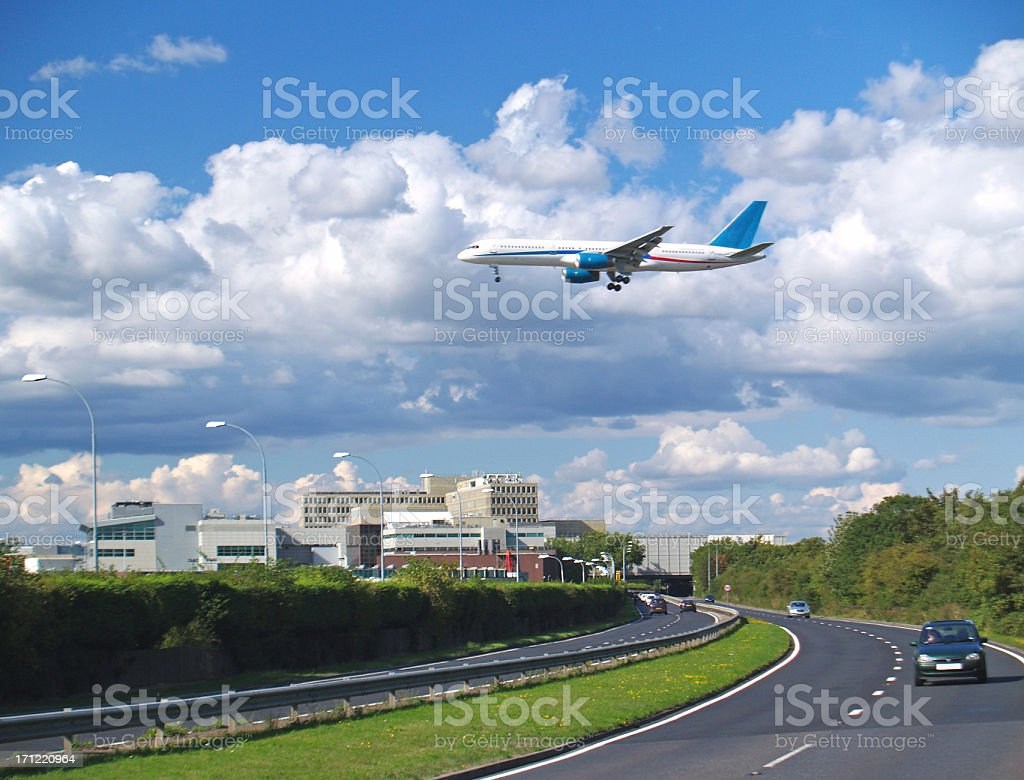 Flight Arrival stock photo