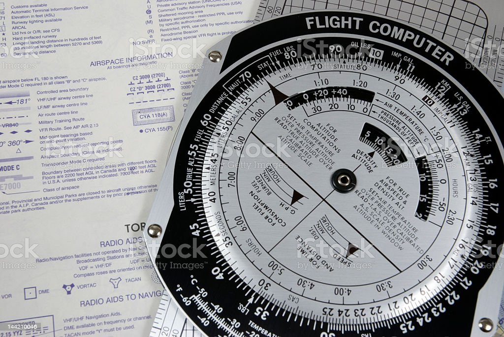 Flight Computer royalty-free stock photo