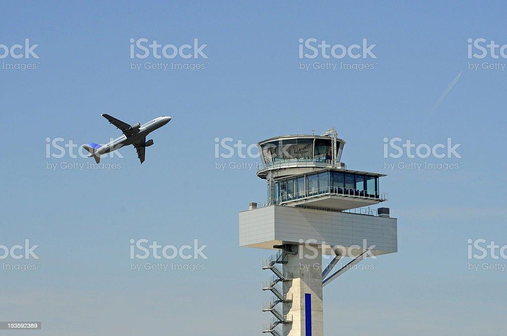 Flight control royalty-free stock photo