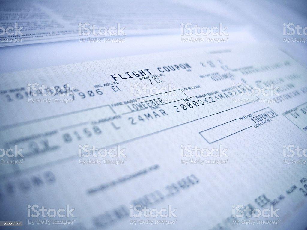 flight coupon royalty-free stock photo