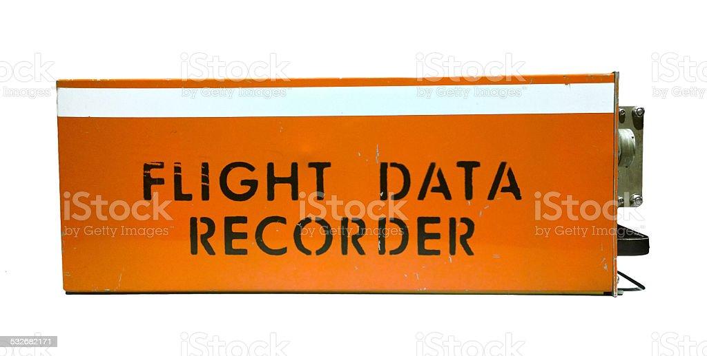 flight data recorder stock photo