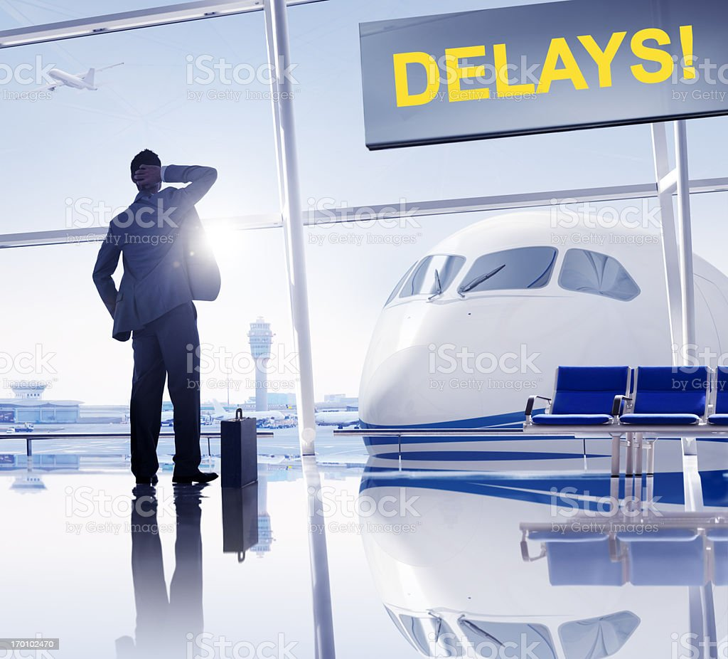 Flight delayed. royalty-free stock photo