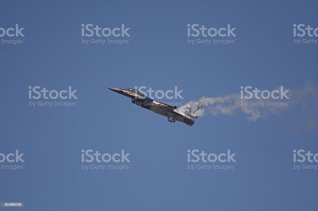 F16 flight demonstration royalty-free stock photo