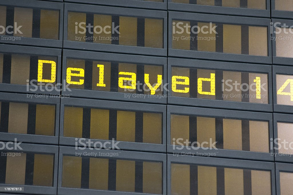 Flight Departures royalty-free stock photo