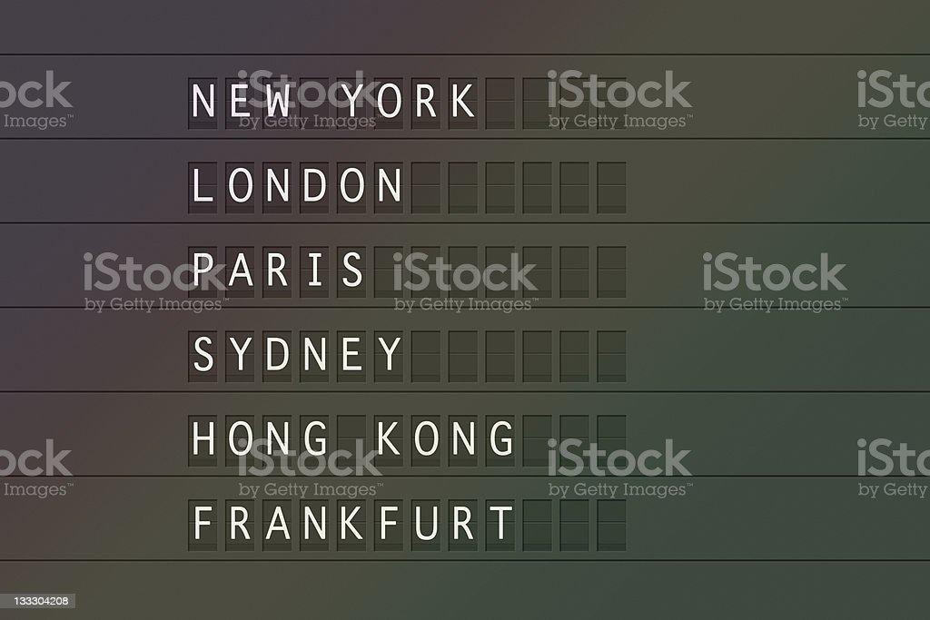 Flight destinations royalty-free stock photo