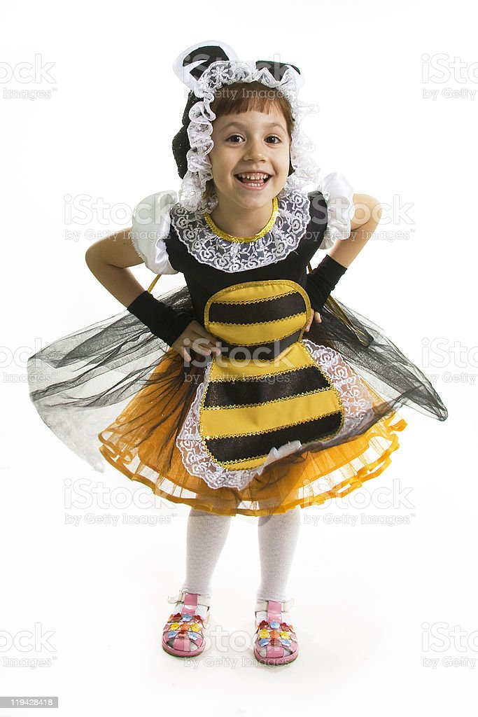 Flight of a bee royalty-free stock photo