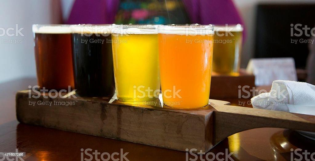 Flight of Beer stock photo