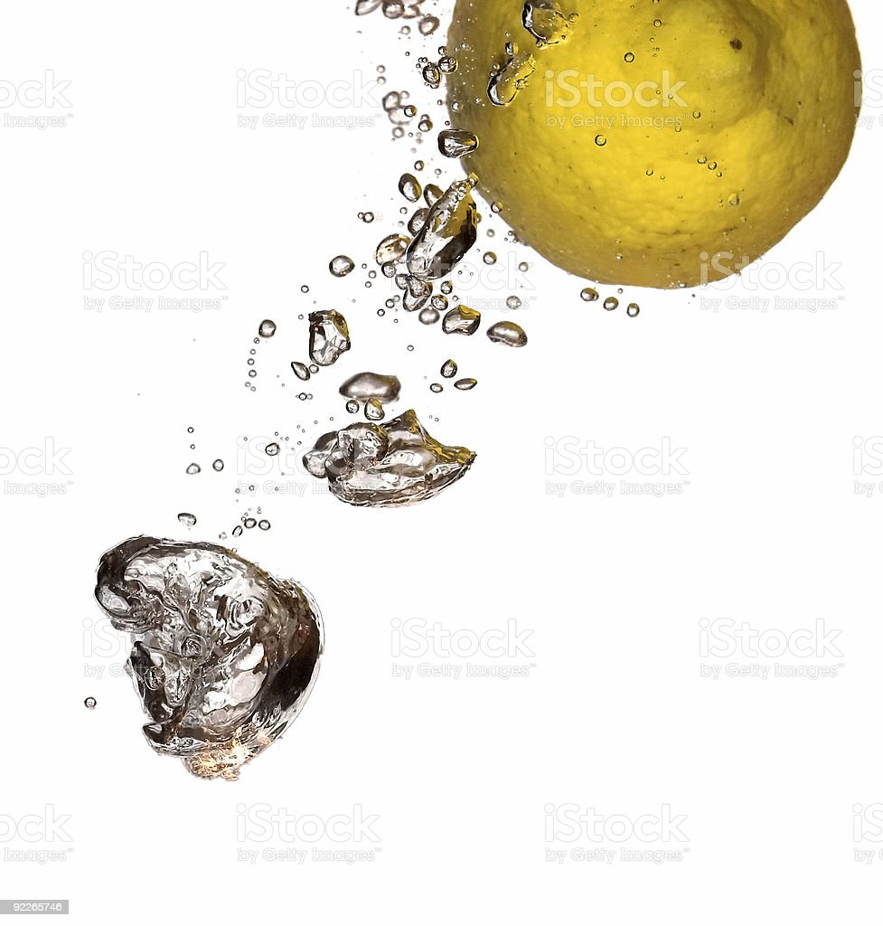 Flight of lemon royalty-free stock photo
