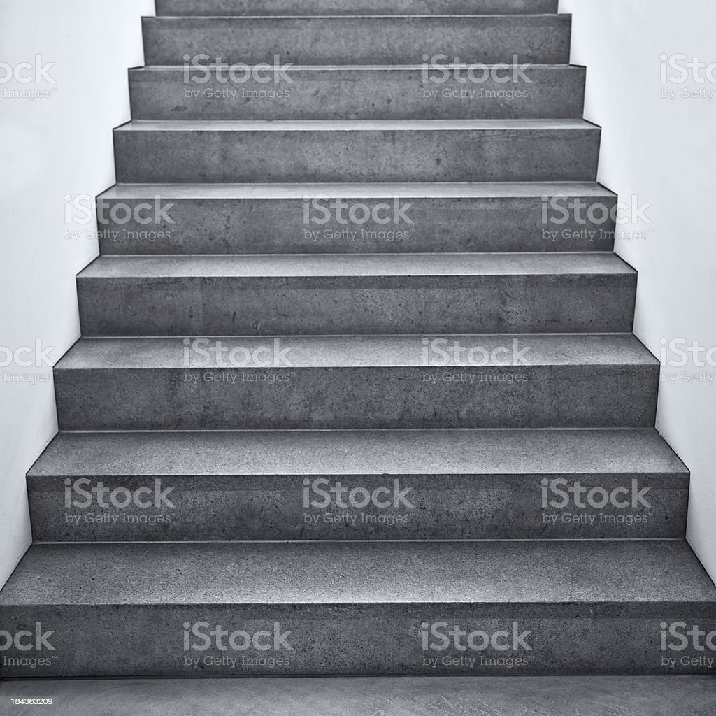 Flight of stairs in a building stock photo