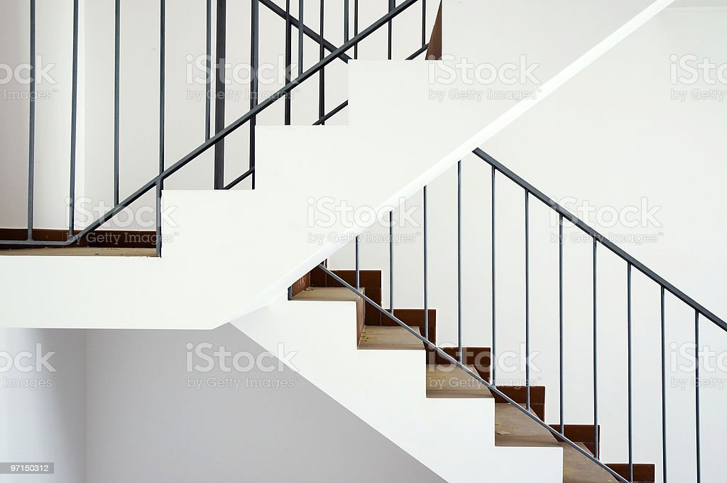 Flight of stairs royalty-free stock photo