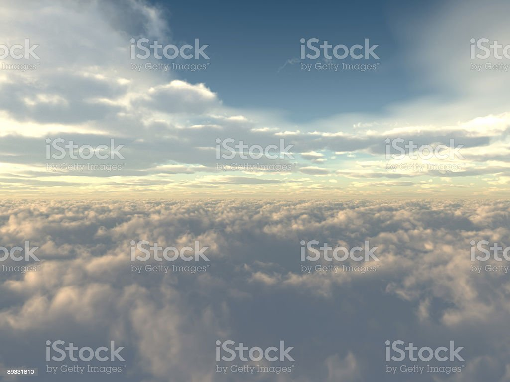 Flight over clouds royalty-free stock photo