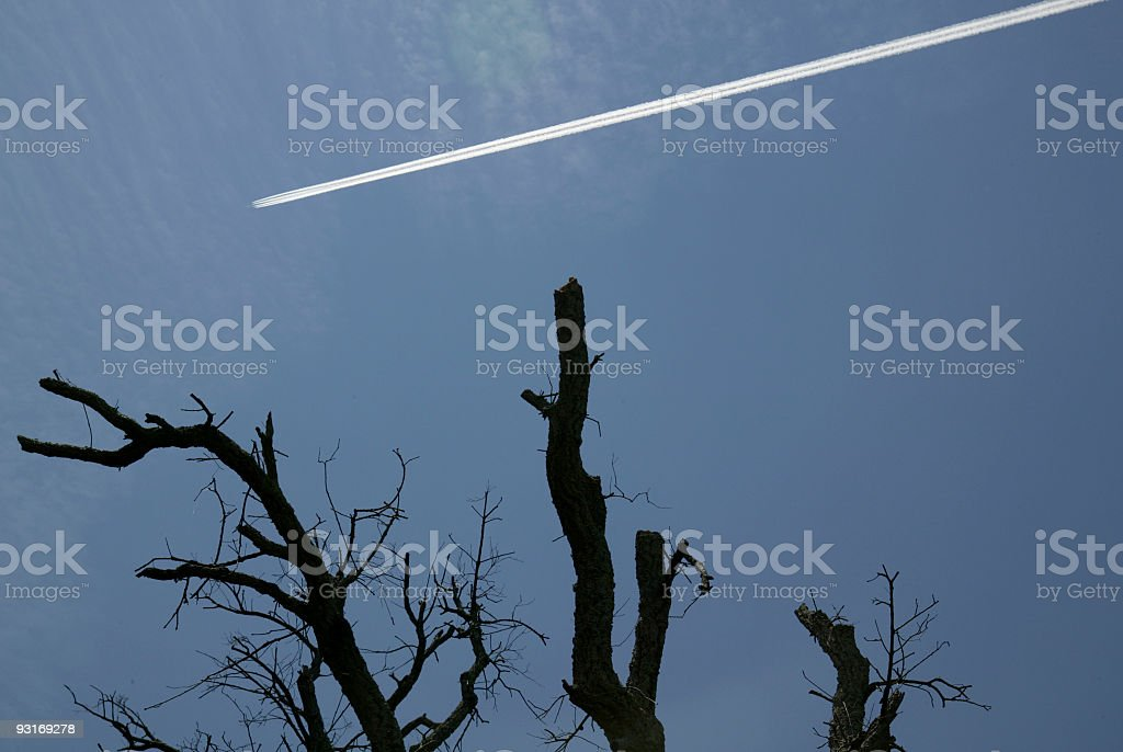 Flight Path stock photo