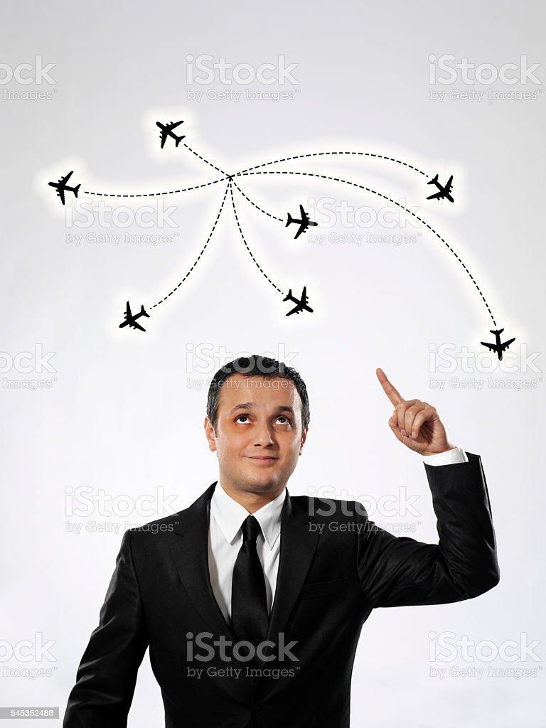 Flight plan stock photo