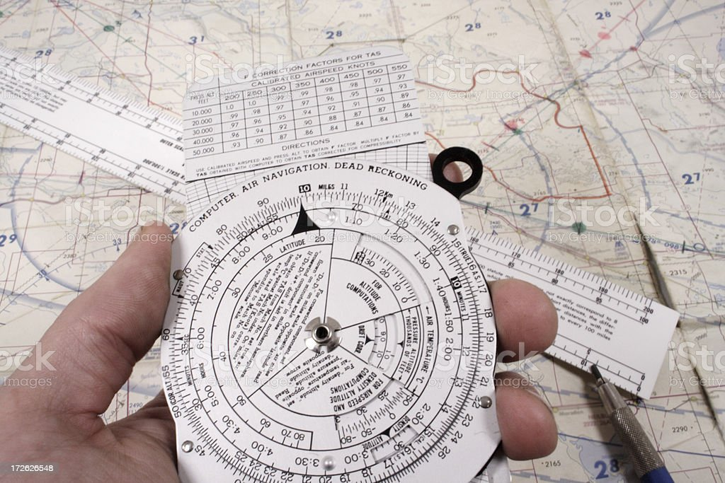 Flight Planning stock photo