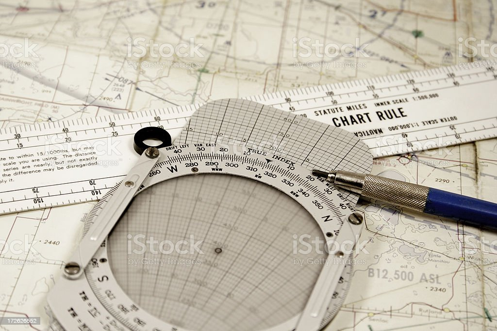 Flight Planning royalty-free stock photo