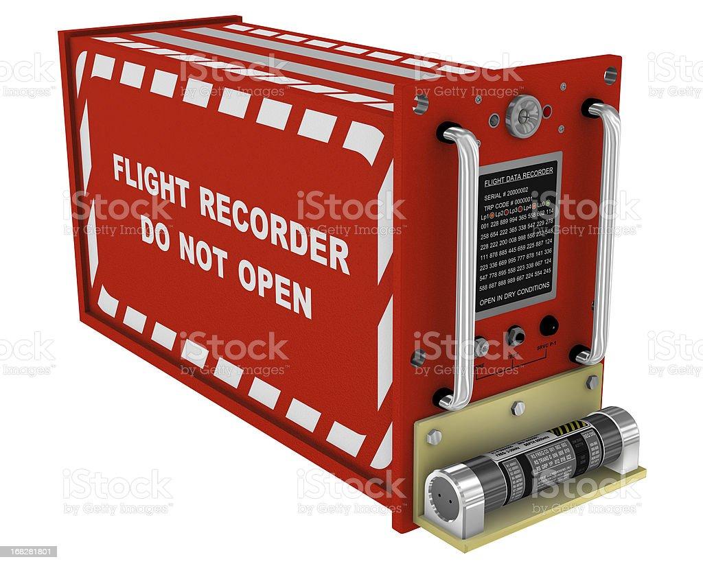 Flight Recorder 3D stock photo
