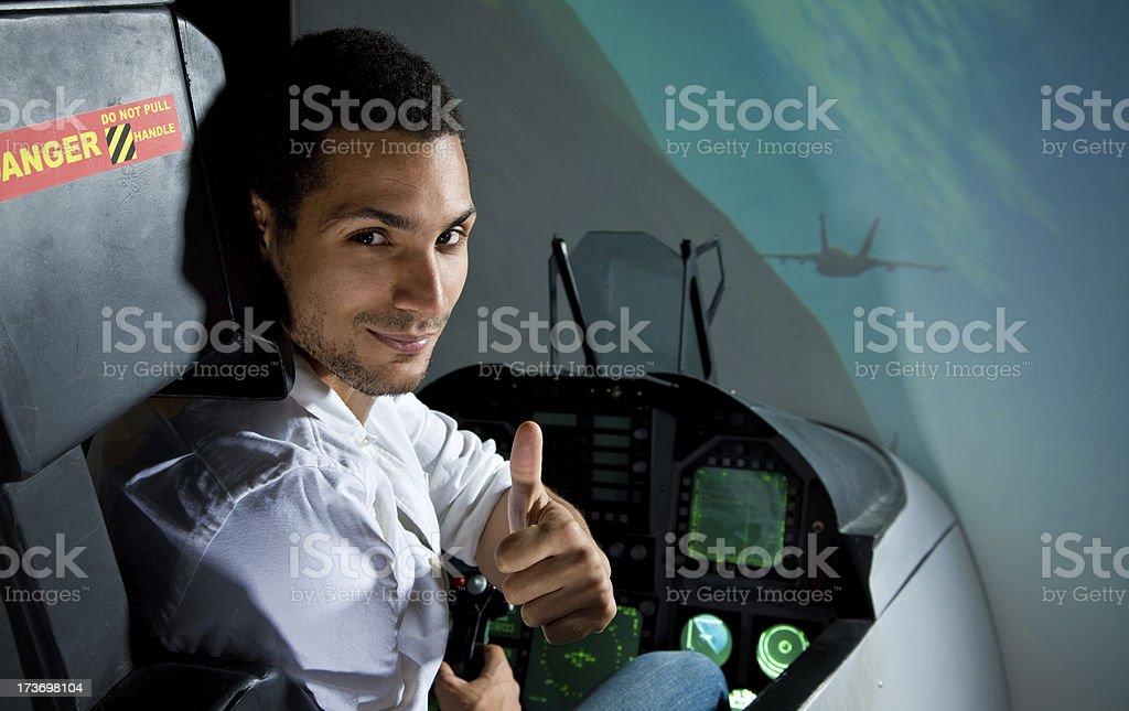 Flight simulator royalty-free stock photo